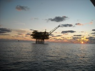 EI 346A oil rig in the Gulf of Mexico