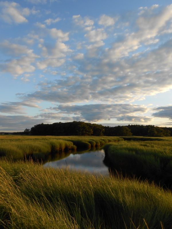 Sunset at West Creek in the Plum Island Estuary, Massachusetts