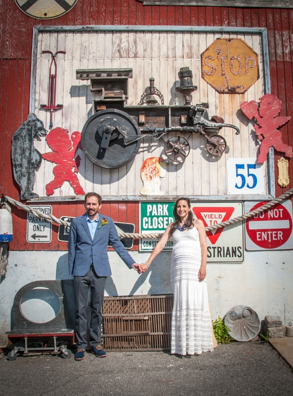 We found some junk and took our picture with it. Thanks Newburyport! Photo courtesy of Danita Jo Photography